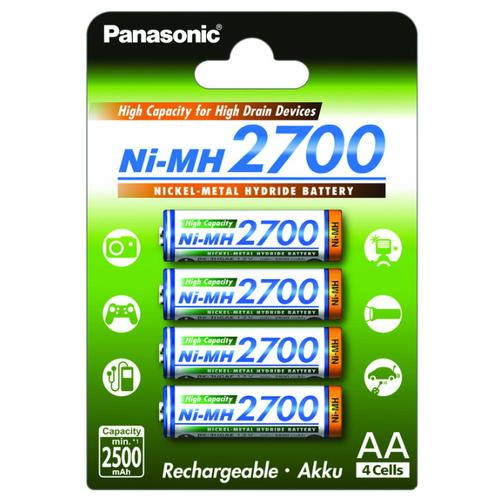 Фото - Аккумулятор Ni-Mh 2700 мА·ч Panasonic Rechargeable Accu AA 4 шт блистер аккумулятор smartbuy sbr 2a02bl2300 aa 2 шт
