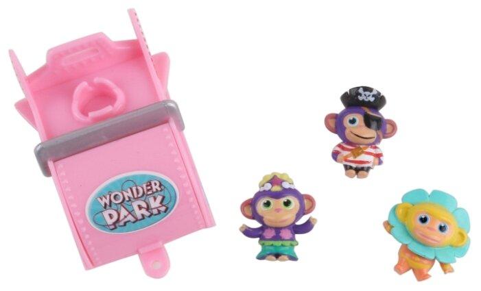 Игровой набор Wonder Park Волшебный парк Джун - Вагончик и 3 обезьянки 4 36266