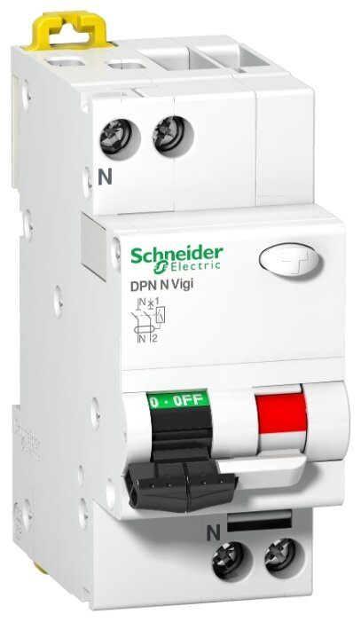 DPN N Vigi 2P 30mA/C10-A Автоматический выключатель дифференциального тока 1п+N 10А х-ка С, 30мА тип А, Icu=6kA SCHNEIDER ELECTRIC 19772
