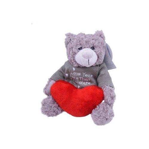 Мягкая игрушка Magic Bear Toys Мишка Рональд в свитере с сердцем 23 см magic bear toys мягкая игрушка мяч мягкий диаметр 7 см