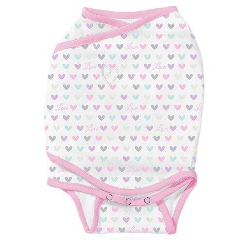 Многоразовые пеленки Summer Infant SwaddleMe Kicksie S белый/сердечки конверт summer infant хлопковый спальный мешок swaddleme wiggle blanket pink розовый размер s m