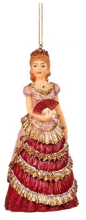 Goodwill Елочная игрушка Барышня с раскрытым веером 13 см, подвеска TR 27340