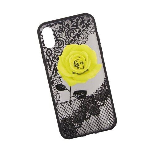 Чехол Liberty Project Роза для Apple iPhone X желтыйЧехлы<br>