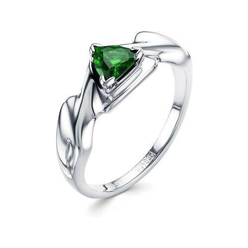 АЛЬКОР Кольцо с 1 изумрудом из серебра 01-0586-00НИ-00, размер 18 алькор кольцо с 1 изумрудом из серебра 01 0577 00ни 00 размер 18