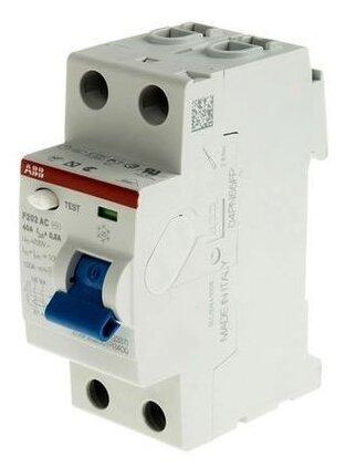 Дифференциальный автомат ABB F202 2П 300 мА