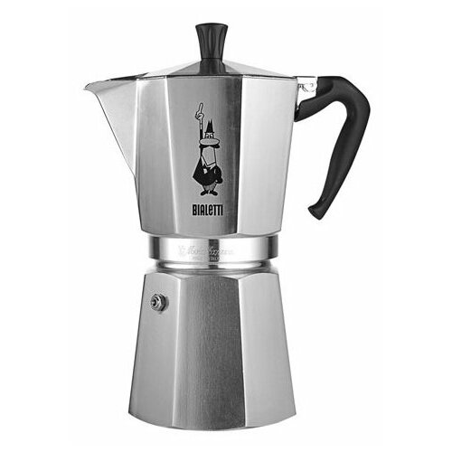 Гейзерная кофеварка Bialetti Moka Express 1166 (12 чашек), серебристый