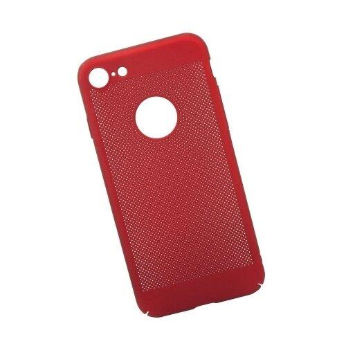 Чехол Liberty Project Сетка Soft Touch для Apple iPhone 7 красныйЧехлы<br>
