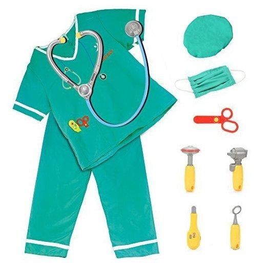 ABtoys Важная работа. Форма доктора, 10 предметов в наборе с аксессуарами PT-00787(WJ-A6604)