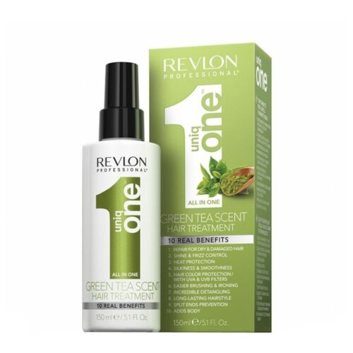 Revlon Professional Uniq One Несмываемая маска-спрей для волос с ароматом зеленого чая, 150 мл revlon uniq