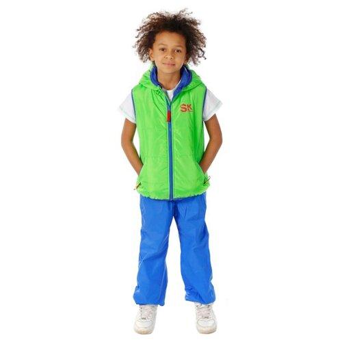 Жилет V-Baby 56-022 размер 110, ярко-зеленыйКуртки и пуховики<br>