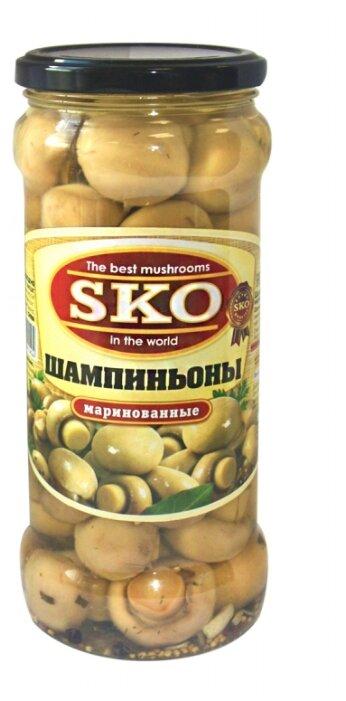 Шампиньоны SKO маринованные (целые) с уксусом