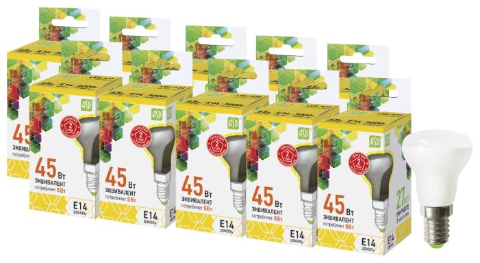 Упаковка светодиодных ламп 10 шт ASD LED-R39-standard E14, R39, 5Вт, 3000К