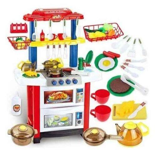 Купить Кухня Shantou Gepai Happy Little Chef 758A красный/белый/синий/желтый, Детские кухни и бытовая техника