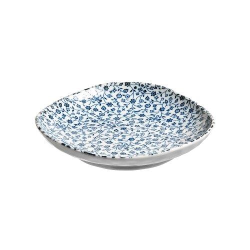 KAKUNI Тарелка с маленькими синими цветами 16 см белый/синийТарелки<br>