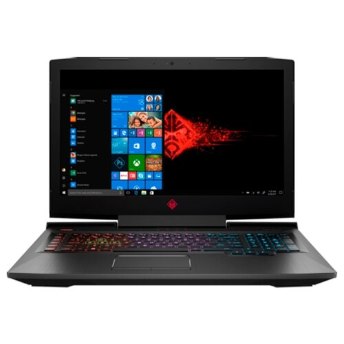 Купить Ноутбук HP OMEN 17-an104ur (Intel Core i7 8750H 2200 MHz/17.3 /1920x1080/16GB/1256GB HDD+SSD/DVD нет/NVIDIA GeForce GTX 1070/Wi-Fi/Bluetooth/Windows 10 Home) 4GR79EA, OMEN 17-an104ur таинственный черный