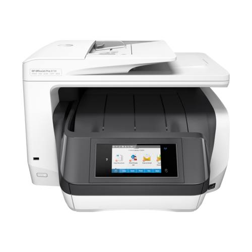Фото - МФУ HP OfficeJet Pro 8730, белый мфу hp officejet pro 8730 e aio d9l20a