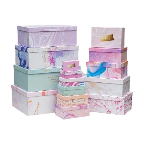 набор подарочных коробок ип выгодский денис владимирович микс 3 шт разноцветный Набор подарочных коробок Дарите счастье Поздравляю!, 15 шт. разноцветный
