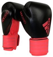 Боксерские перчатки adidas Hybrid 200 dynamic fit черный/красный 10 oz