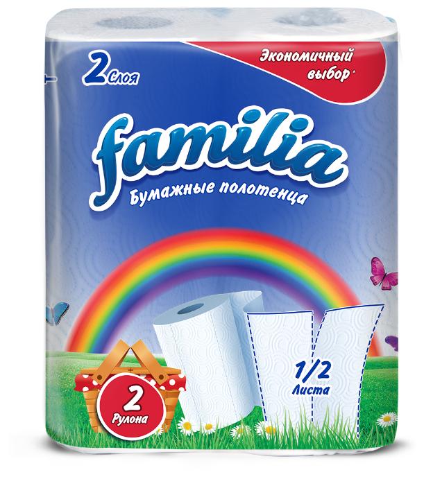 Туалетная бумага Familia Радуга белая двухслойная