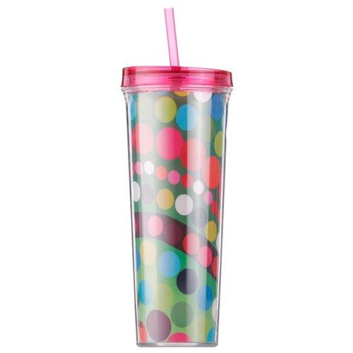 Тамблер French Bull Drinkup Straw Bindi (0,7 л) розовый