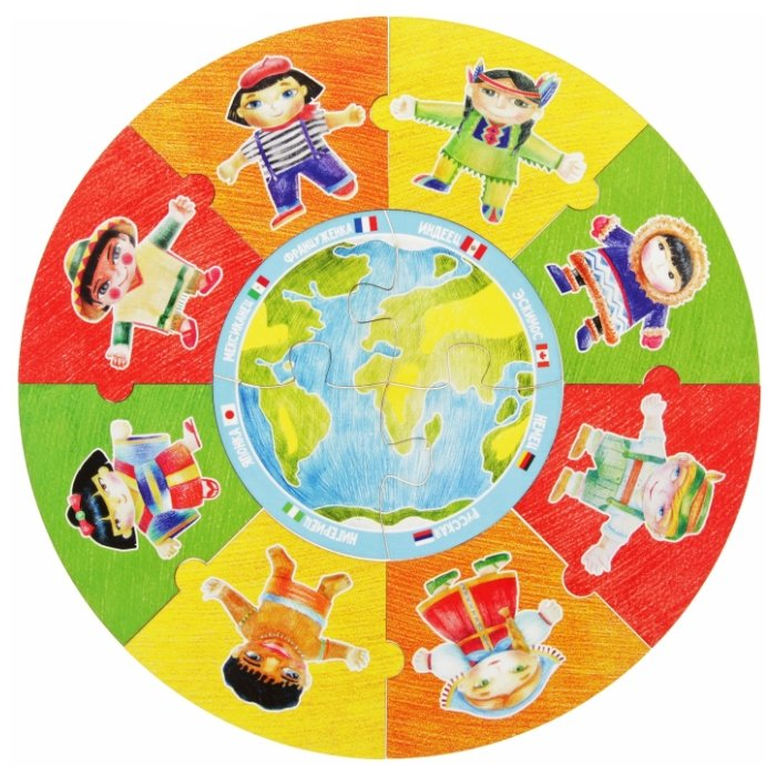 Пазл Мастер игрушек Народы мира (IG0146) , элементов: 12 шт.