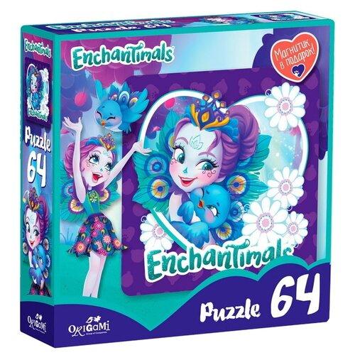Купить Пазл Origami Enchantimals Пэттер Павлина и Флэп (03555), 64 дет., Пазлы