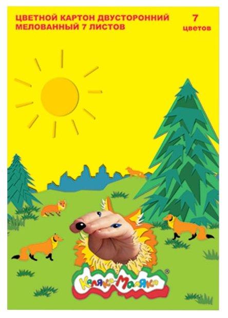 Цветной картон Лисички Каляка-Маляка, A4, 7 л., 7 цв.