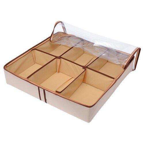 HOMSU Органайзер для обуви на 6 боксов Bora-Bora бежевый/коричневый органайзер на 6 ячеек white homsu органайзер на 6 ячеек white
