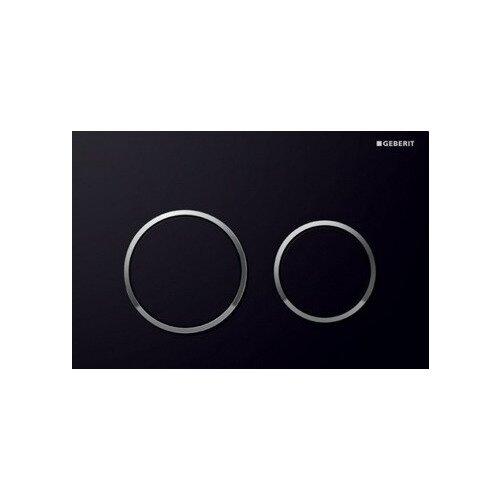 Кнопка смыва GEBERIT 115.085.KM.1 Omega 20 черный/хромИнсталляции для унитазов, писсуаров, биде<br>