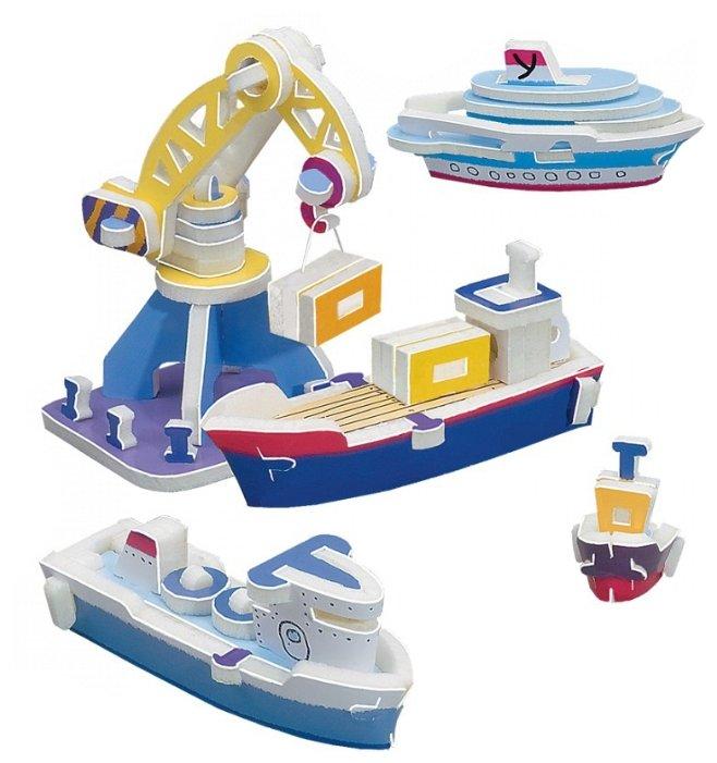 Сборная модель Умная Бумага Морской порт (095),,