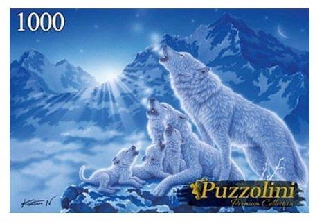 Пазл Рыжий кот Puzzolini Кентаро Нишино Ночные волки (MGPZ1000-7729), 1000 дет.