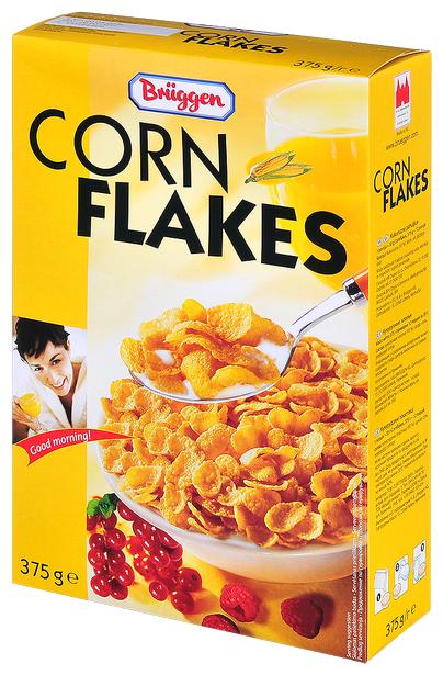 Готовый завтрак Bruggen Corn Flakes хлопья, коробка, 375 г
