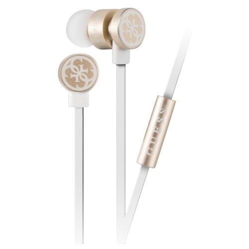 Наушники Guess In-Ear Headphones white/gold цена 2017