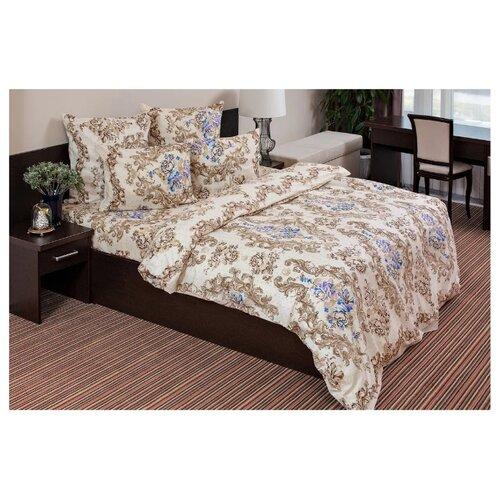 Постельное белье 2-спальное с евро простыней Ночь Нежна Нежная роза 70 х 70 см бязь коричневый фото