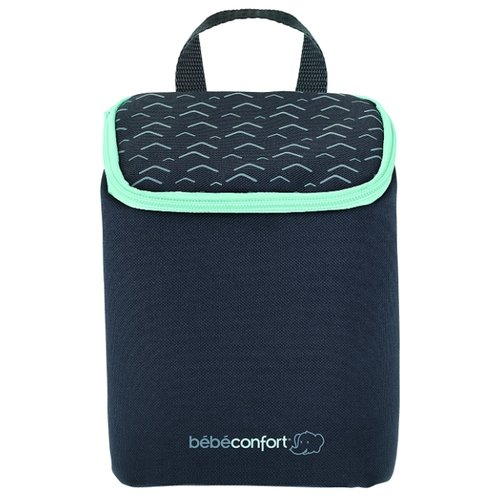 Bebe confort Контейнер-сумка термоизоляционная для бутылочек, черный/зеленый bebe confort набор из 3 х бутылочек для кормления maternity 270 мл с рождения