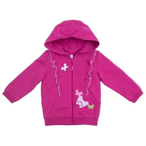 Толстовка playToday размер 92, розовый жилет playtoday размер 92 сиреневый