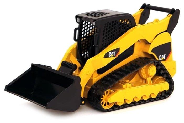 Bruder (Брудер) Спецтехника Cat Мини погрузчик с ковшом Yellow black.