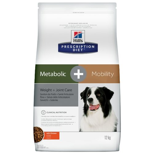 Корм для собак Hills (12 кг) Prescription Diet Canine Metabolic+mobility with Chicken dryКорма для собак<br>