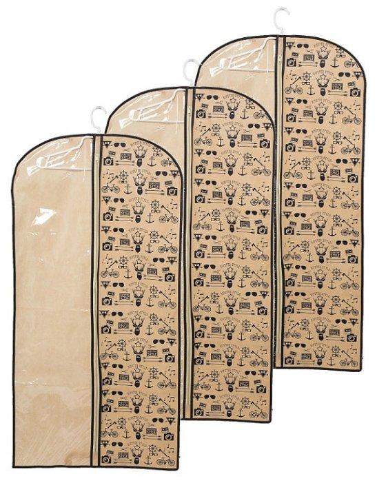 HOMSU Комплект из 3 чехлов для одежды Hipster Style (120x60 см)