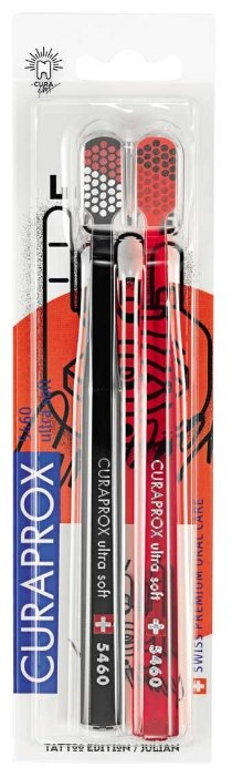 Зубная щетка Curaprox CS 5460 Ultra Soft Tattoo Edition