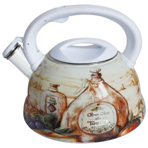 Rainstahl Чайник 7540-30RS\WK 3 л, белый/коричневый/бежевый rainstahl чайник 7625 30rs wk 3 л стальной черный