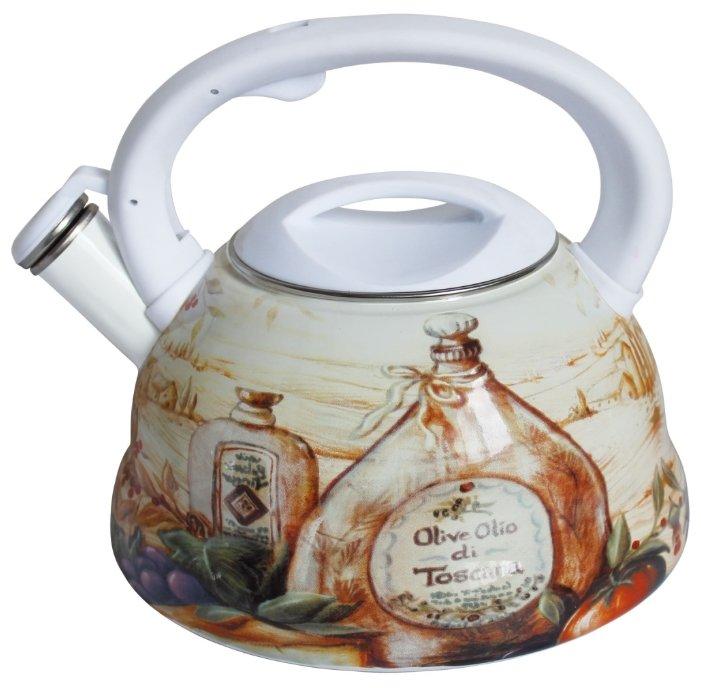 Rainstahl Чайник 7540-30RS\WK 3 л белый/коричневый/бежевый