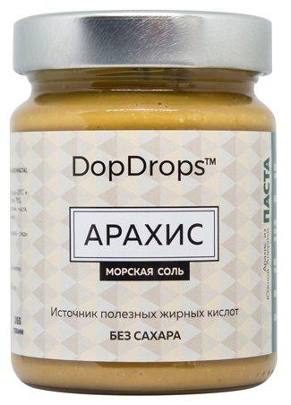 DopDrops Паста ореховая Арахис (морская соль) стекло