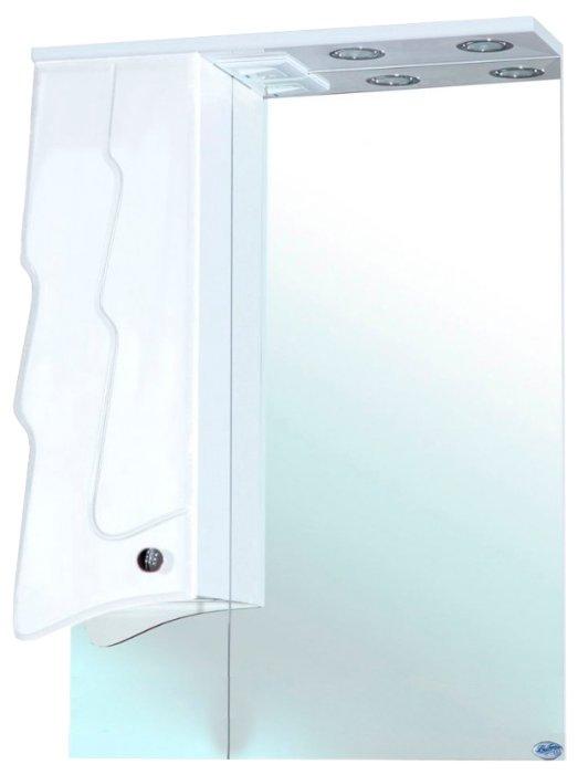 Зеркало Bellezza Ёлка 60х80см белый, левый без рамы