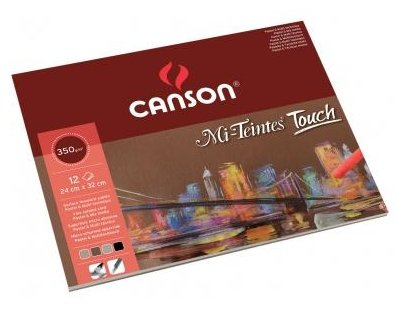 Альбом для пастели Canson Mi-Teintes Touch 24 х 32 см, 355 г/м², 12 л.