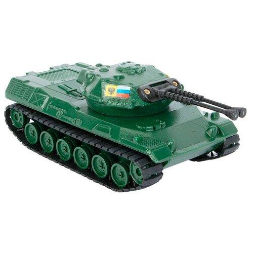 Купить Танк Форма с зениткой (С-16-А) 21.5 см зеленый, Машинки и техника