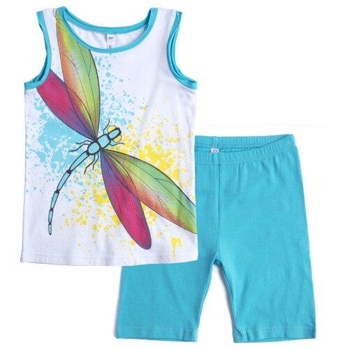 Комплект одежды playToday размер 122, белый/голубой