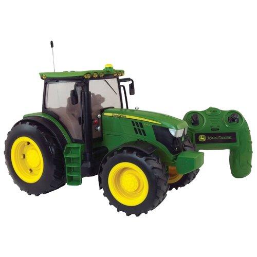 Купить Трактор Tomy John Deer 6190R (Т11313) 1:16 зеленый, Радиоуправляемые игрушки