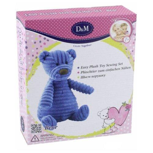 Купить D&M Шьем игрушку Мишка Топтыжка (66795) синий, Изготовление кукол и игрушек