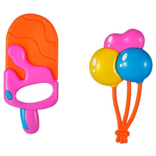 Купить Набор Жирафики Эскимо и шарики оранжевый/розовый/голубой, Погремушки и прорезыватели
